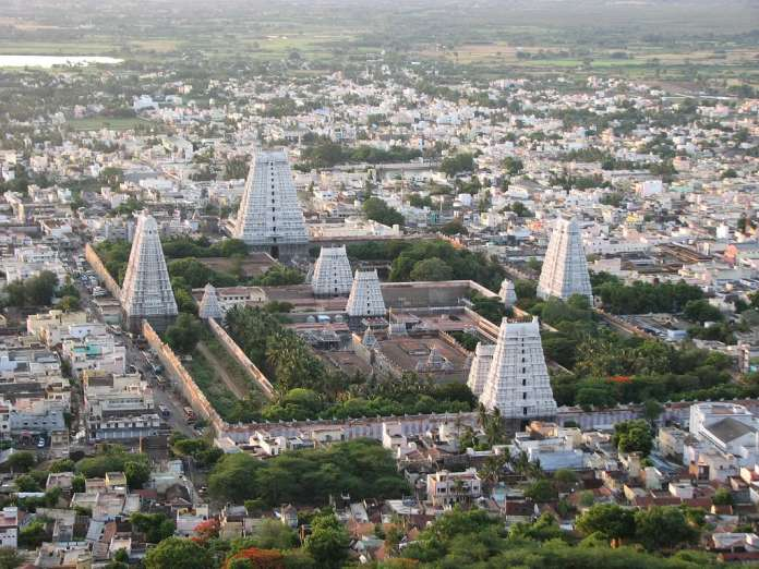 Thiruannamalai Temple from Arunachala Hill